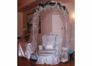 The Brides Special Chair to open gifts