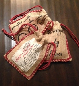 Burlap Gift Pouches for that little trinket