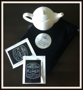 "5. Miniature teapot and tea bags ""from tee to tea,"" as he loves his English Breakfast tea"