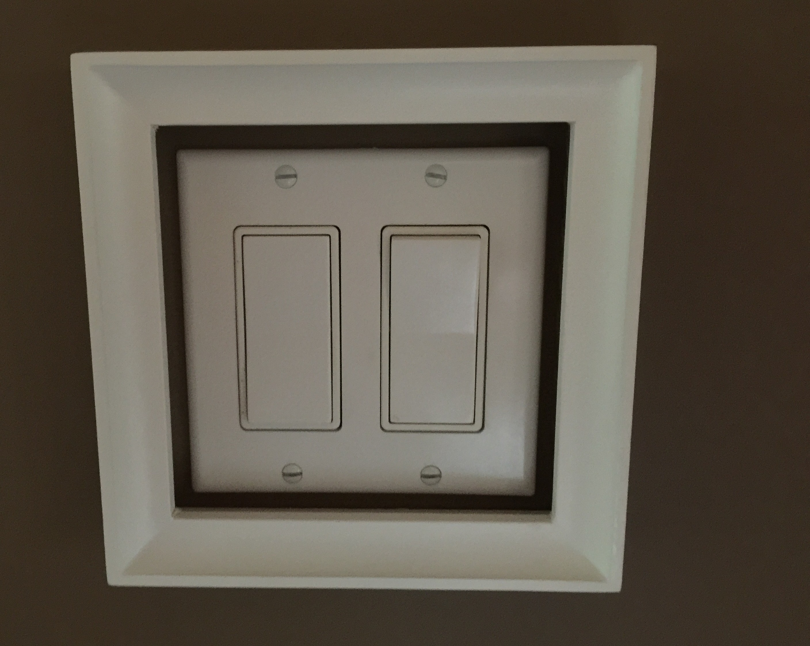 an elegant touch to light switch plates