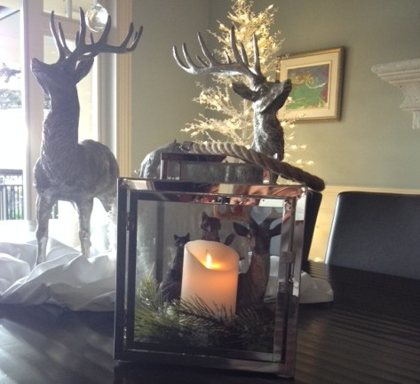 hurricane lanterns add a striking addition their magical elements of glass and the flickering flame of a candle add universal appeal to your holiday decor